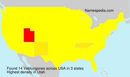 Surname Veblungsnes in USA
