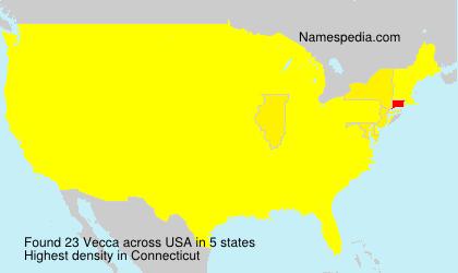 Surname Vecca in USA