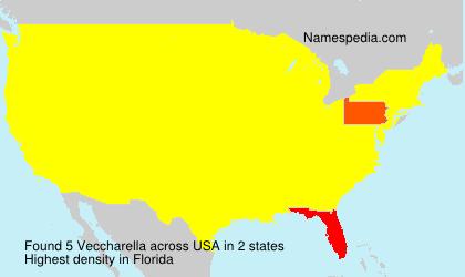 Familiennamen Veccharella - USA