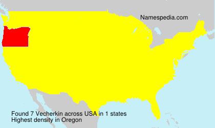 Surname Vecherkin in USA