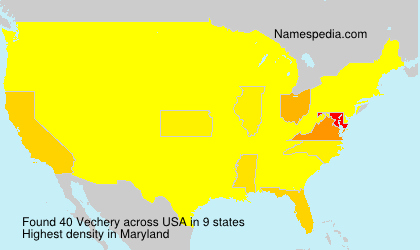 Surname Vechery in USA
