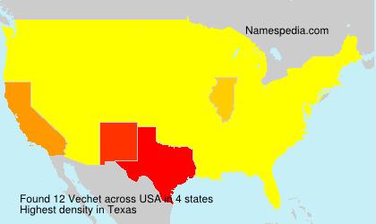 Surname Vechet in USA