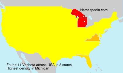 Surname Vecheta in USA