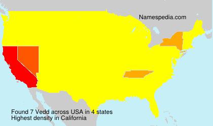 Surname Vedd in USA