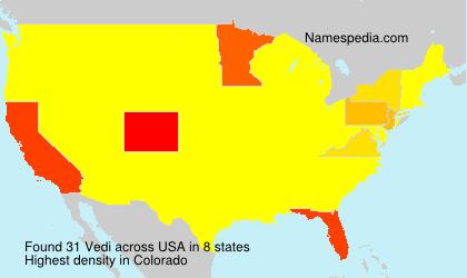Familiennamen Vedi - USA