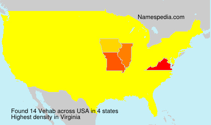 Surname Vehab in USA