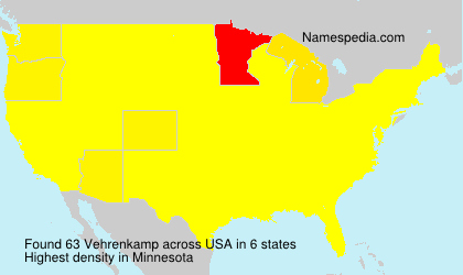 Surname Vehrenkamp in USA