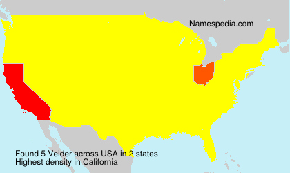 Surname Veider in USA