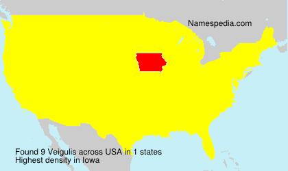 Surname Veigulis in USA