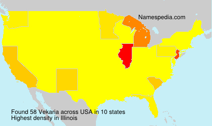 Surname Vekaria in USA