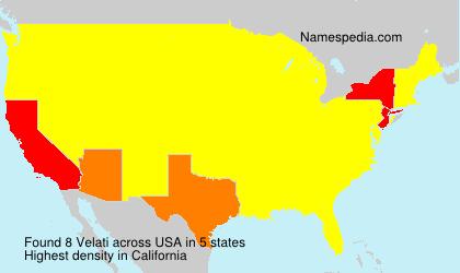 Surname Velati in USA