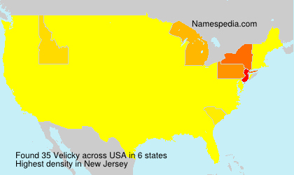 Surname Velicky in USA