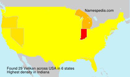 Surname Velikan in USA