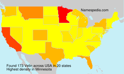 Surname Velin in USA