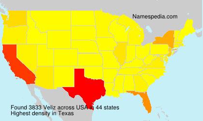 Surname Veliz in USA