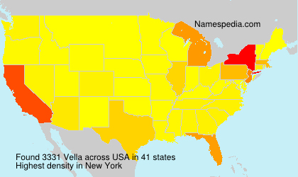 Surname Vella in USA