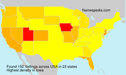 Surname Vellinga in USA