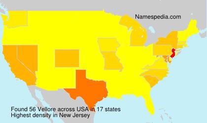 Surname Vellore in USA