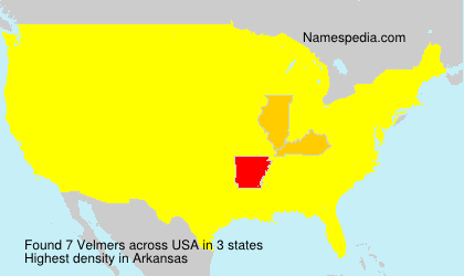 Surname Velmers in USA