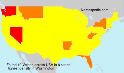 Surname Velone in USA