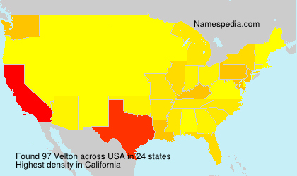 Surname Velton in USA