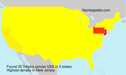 Surname Velykis in USA