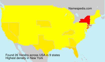 Surname Vendra in USA