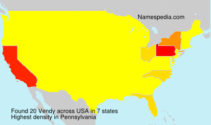 Surname Vendy in USA