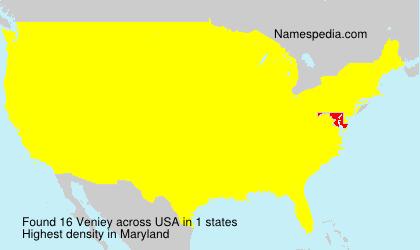 Familiennamen Veniey - USA