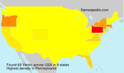 Surname Venini in USA