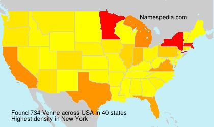 Familiennamen Venne - USA