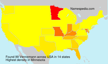 Surname Vennemann in USA