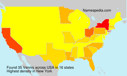 Surname Vennis in USA