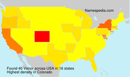 Surname Venor in USA