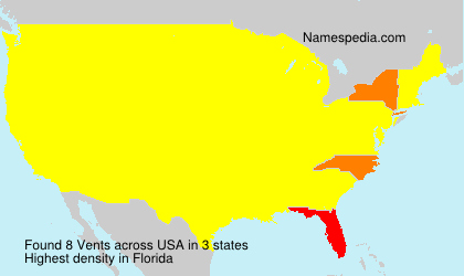 Surname Vents in USA