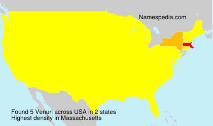 Familiennamen Venuri - USA
