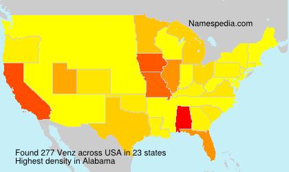 Surname Venz in USA