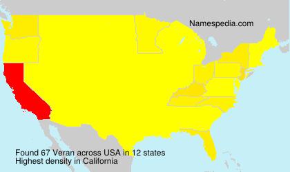 Surname Veran in USA