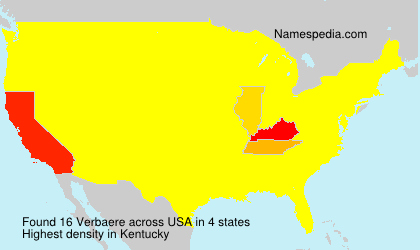 Surname Verbaere in USA