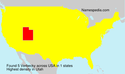 Surname Verbecky in USA
