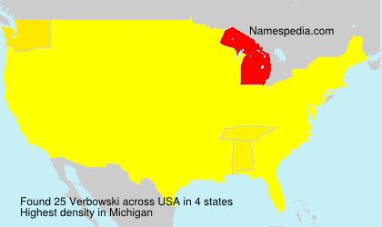 Surname Verbowski in USA