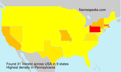 Surname Verelst in USA