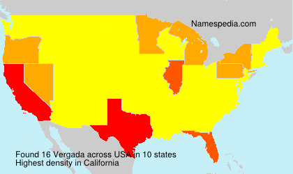 Surname Vergada in USA
