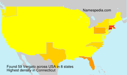 Familiennamen Vergato - USA