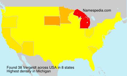 Surname Vergeldt in USA