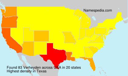 Surname Verheyden in USA