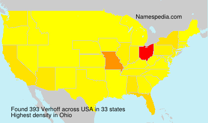 Surname Verhoff in USA