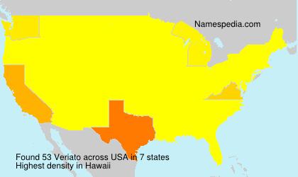 Surname Veriato in USA