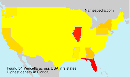 Surname Vericella in USA