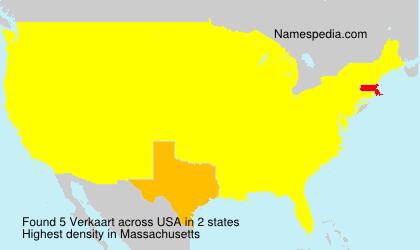 Surname Verkaart in USA